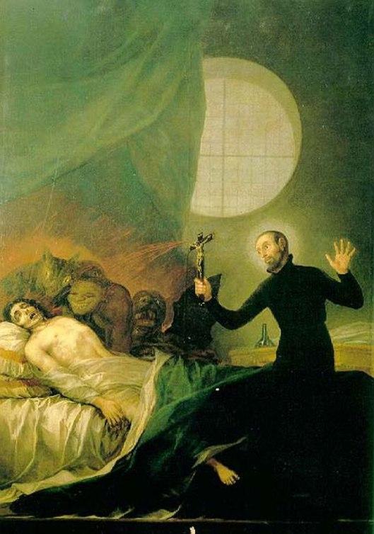 San Francisco de Borja realizando un exorcismo en pintura de Goya (Foto: Wikimedia)
