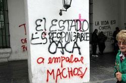 Ni Una Menos - Cabildo de Buenos Aires. Foto: DyN