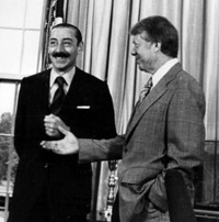 Dictador argentino Videla y presidente demócrata estadounidense Cárte.