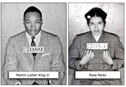 Marthin Luther King con Rosa Parks