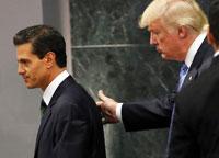 Trump, México, y Peña Nieto, Estados Unidos.