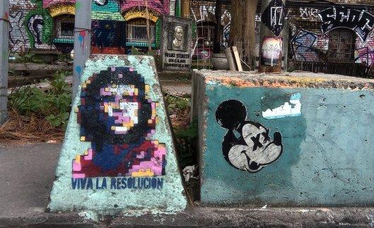 Foto del ché pixelada. Viva la resolución, Berlín.
